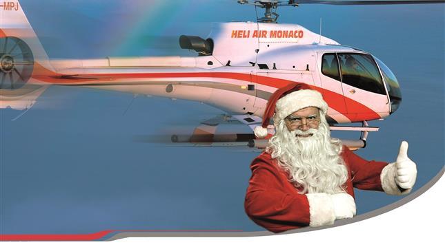 Heliair Baptême de l'Air avec le Père Noël au-dessus de Monaco