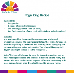 Royal Icing Recipe from Kids activities on the cote d'azur from www.enfantsdazur.com