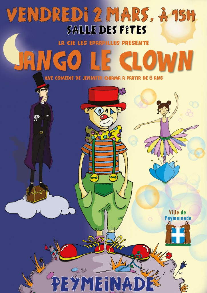 Peymeinade free performance for children Jango le Clown