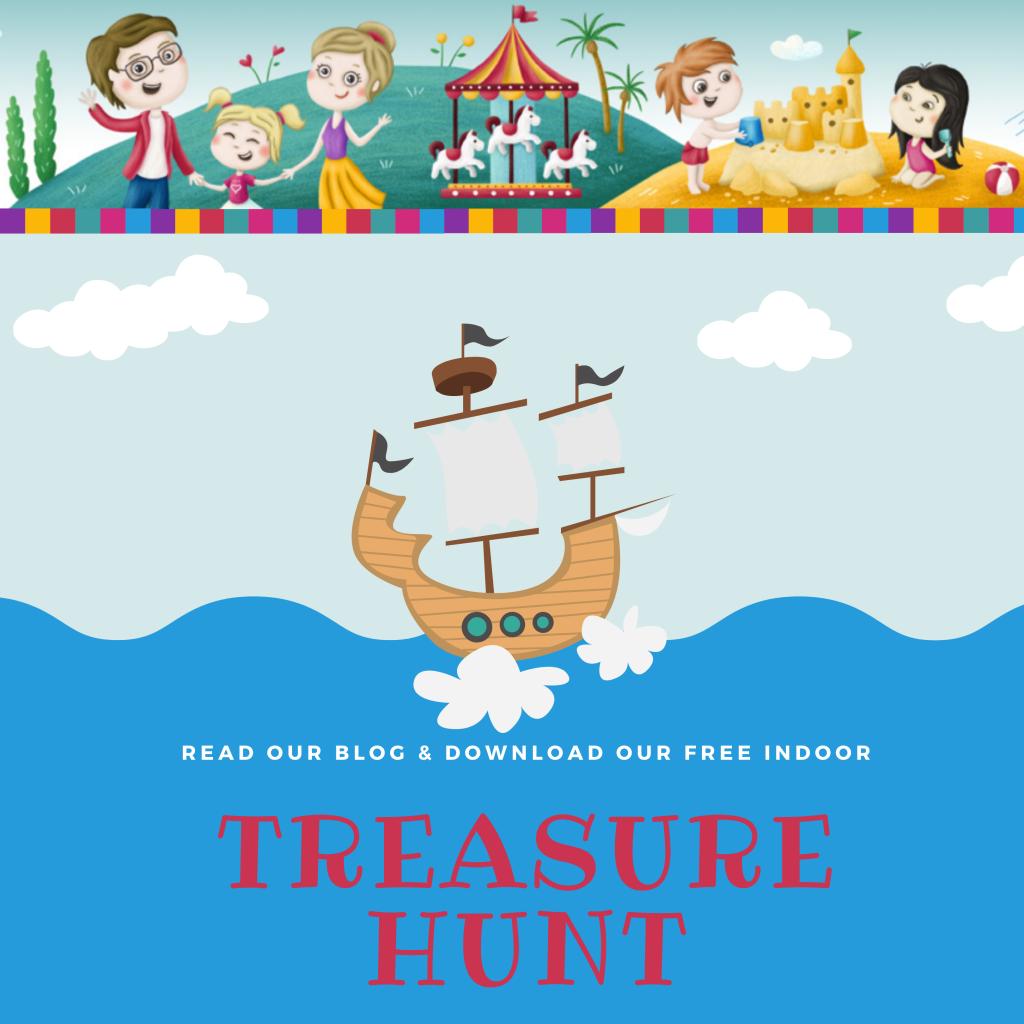 Treasure Hunt Free indoor activity for kids