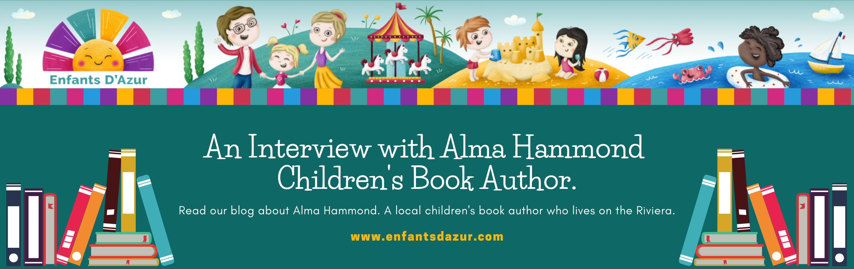 A Interview With Alma Hammond, Children's Book Author Blog Title Graphic