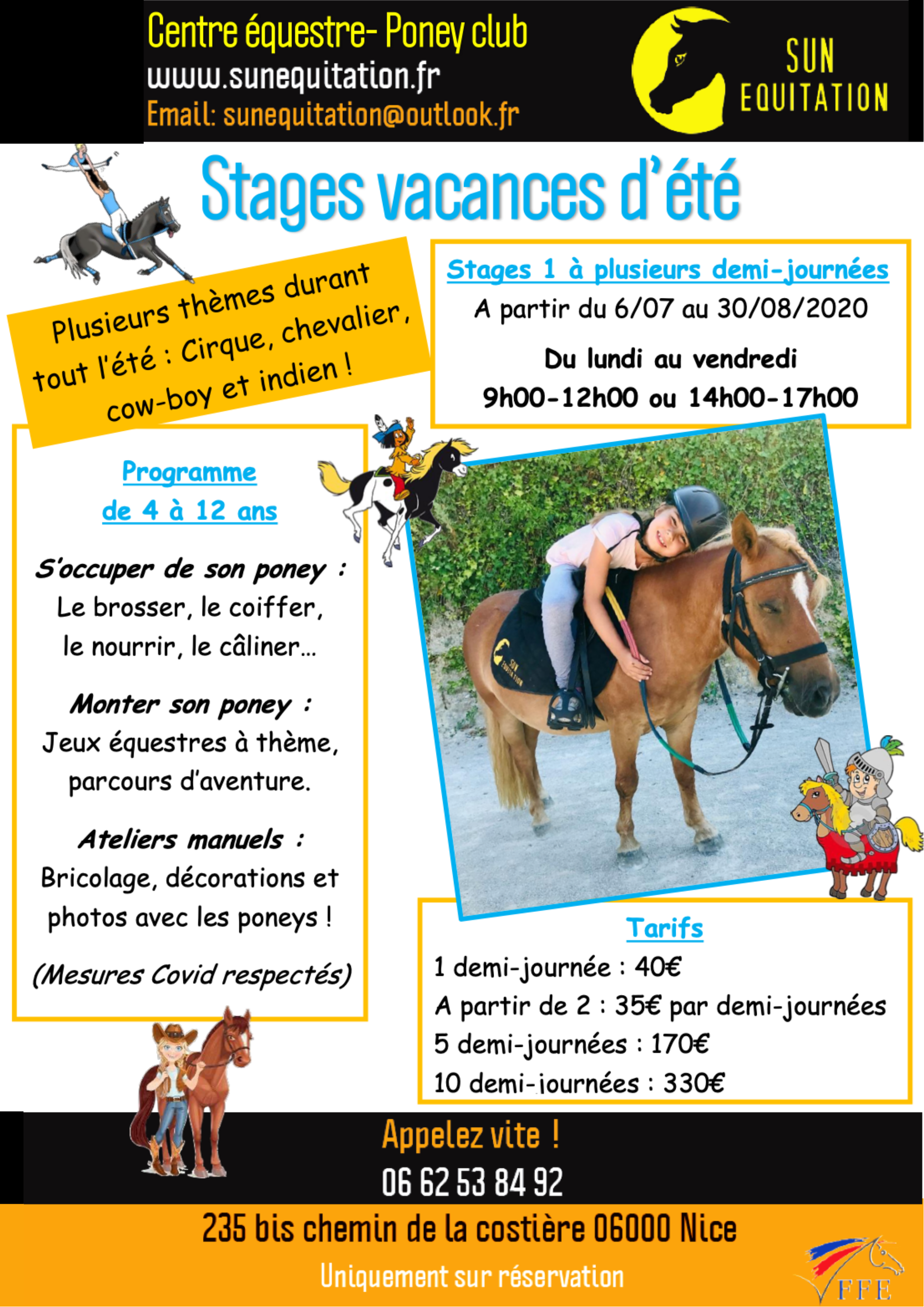 pony camp flyer Sun Equitation