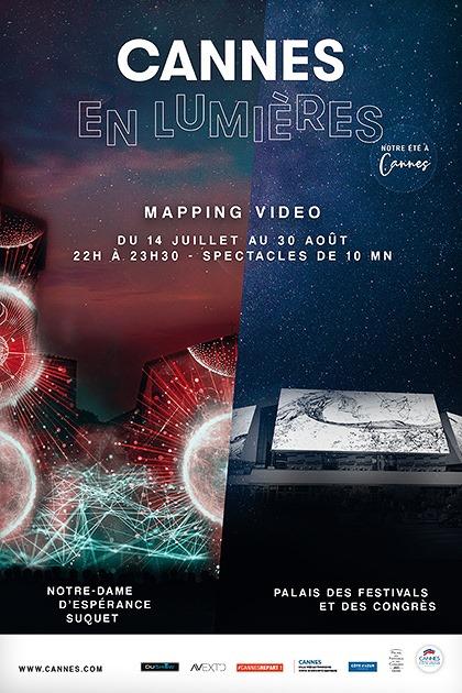 Mapping Lumières à Cannes