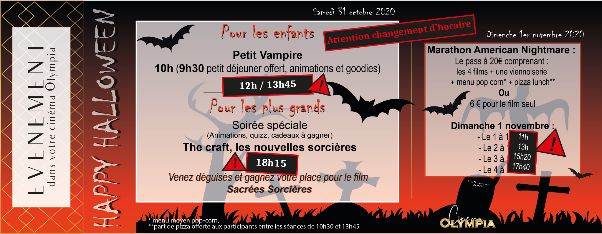 cinema Olympia Cannes Halloween Events